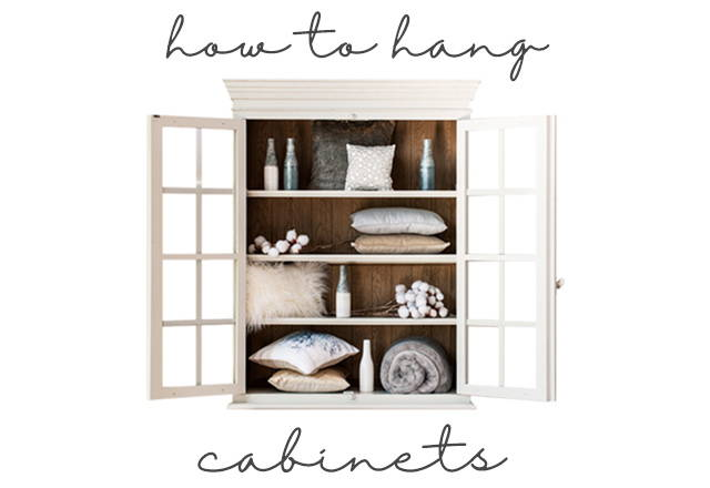 how to hang a cabinet