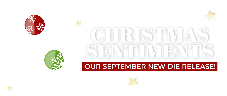 Christmas Sentiments September Launch Tonic Studios Usa