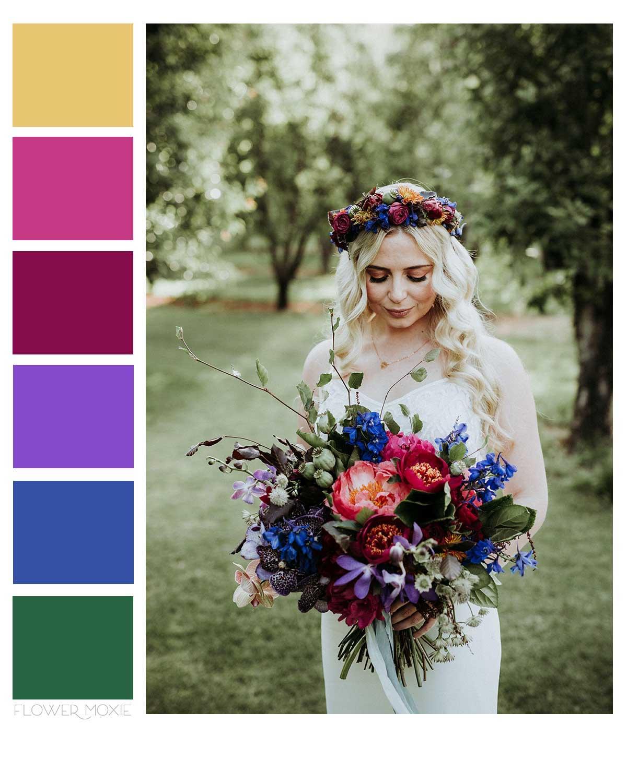 jewel tone wedding flower diy packages