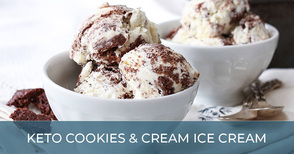 Keto Cookies & Cream Ice Cream