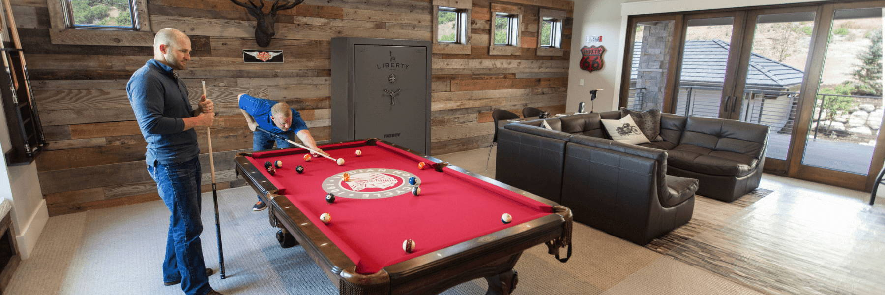 Liberty safe in pool table room Professional Delivery & Installation