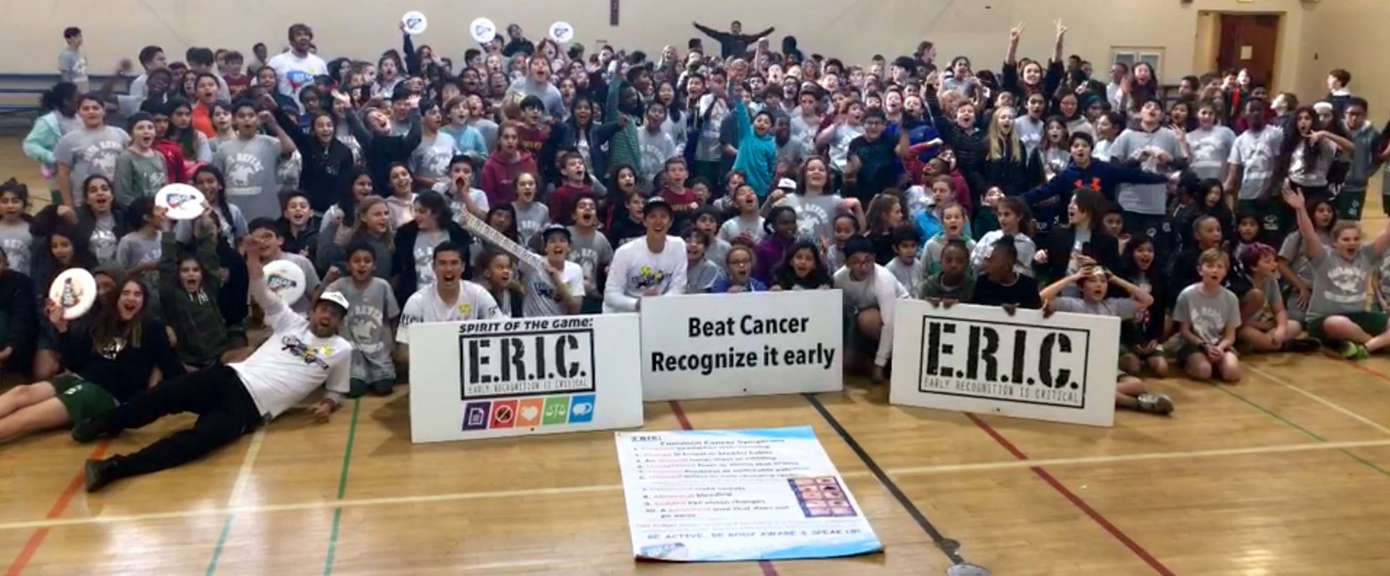 ARIA professional official ultimate flying disc for the sport commonly known as 'ultimate frisbee'  eric E R I C runs camps for cancer recognition partner