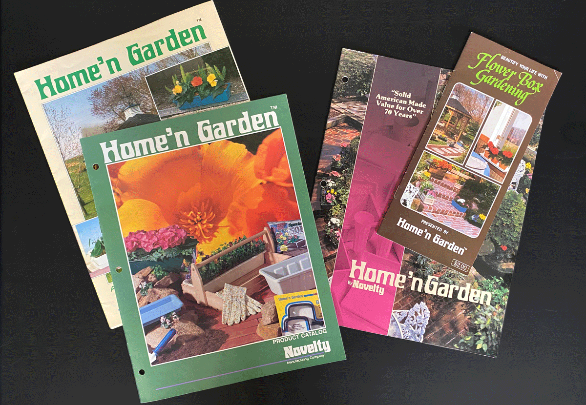 Brochures and documents promoting the Home'n Garden brand