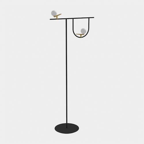 Artemide Yanzi Floor Lamp Neri & Hu