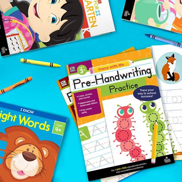Learn at home activity books for children