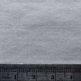 Bamboo Silk Satin Fabric Blank Square Image with ruler for scale