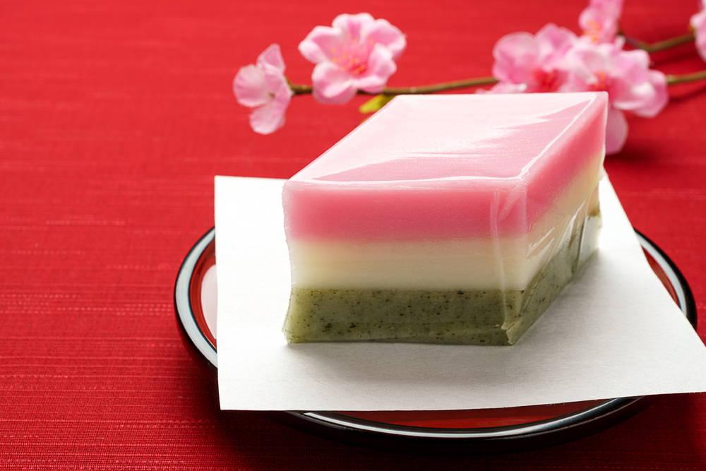 Japanese hishi mochi for girls day festival