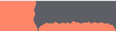 Eden Shack main logo orange and grey on white background