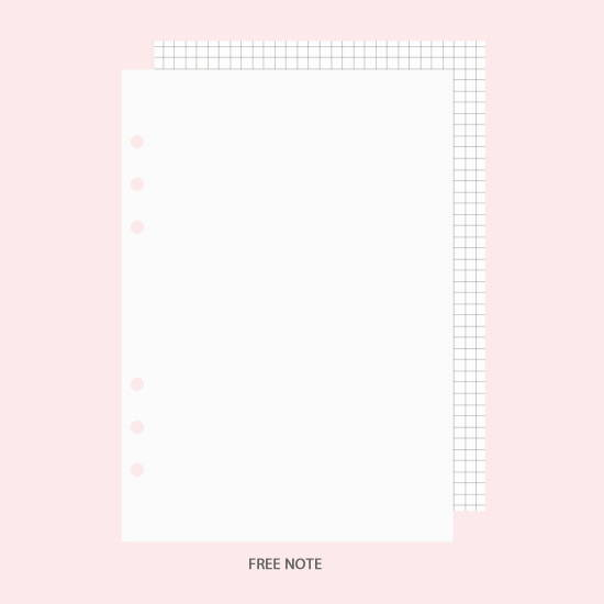 Free note - After The Rain Heart room 6-ring dateless monthly planner