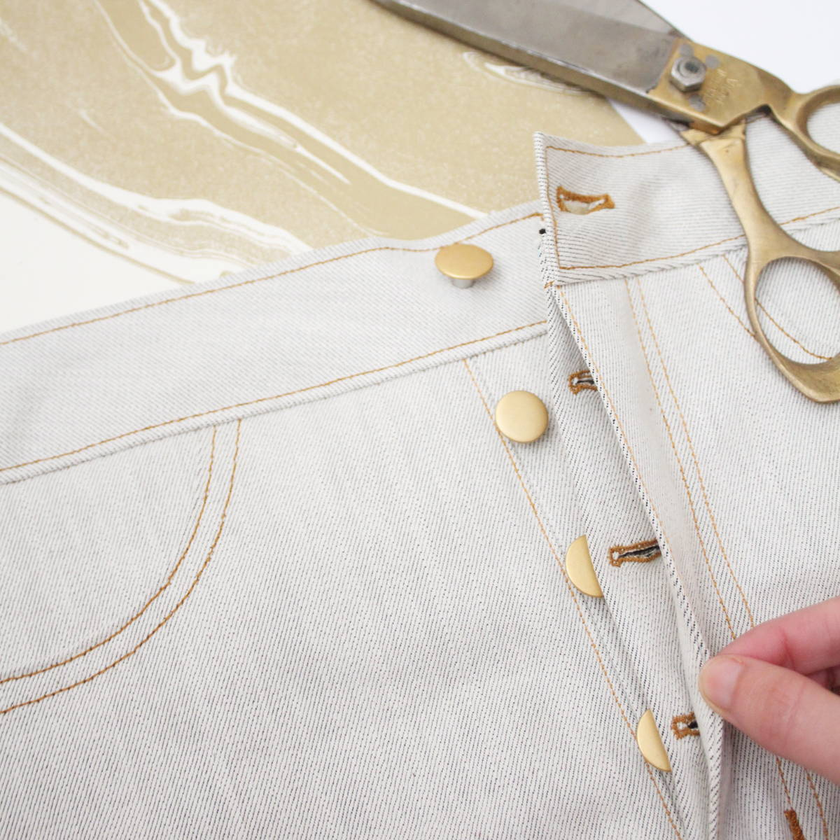 How to sew a button fly