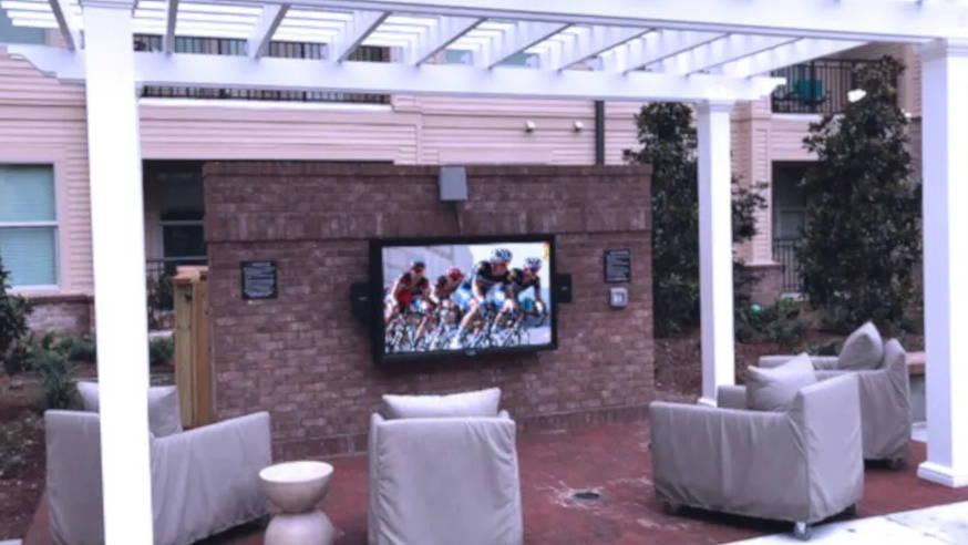 The Display Shield® Outdoor TV Enclosure Condo/Apartments Example
