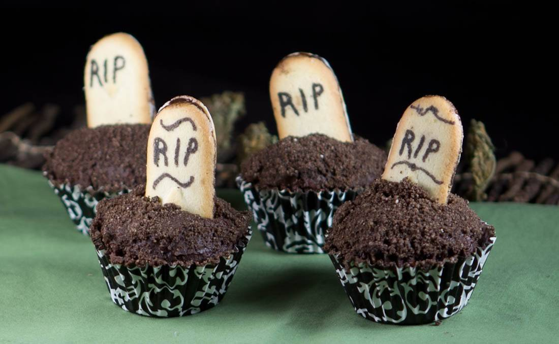 420 Infused Halloween Cupcakes on DopeBoo.com's 2018 Halloween Guide!