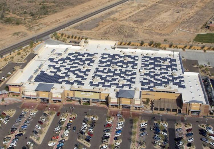 Walmart with Solar Panels