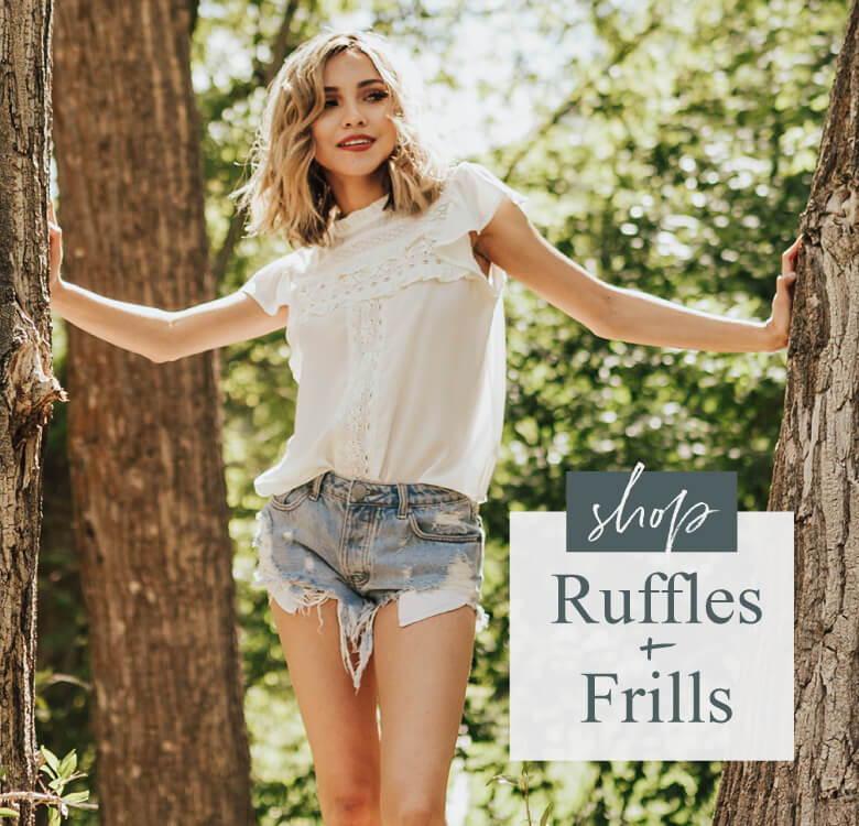 ruffle clothing, womens boutique, womens fashion