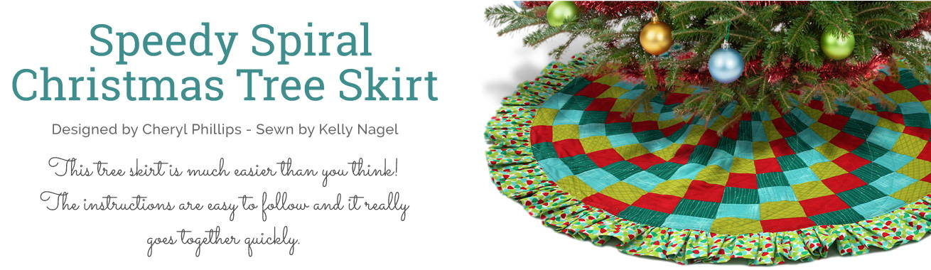 Speedy Spiral Christmas Tree Skirt