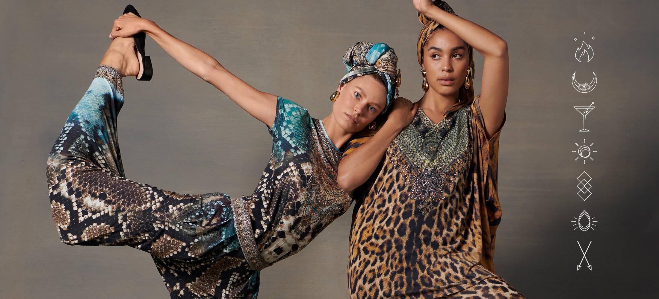 CAMILLA loungewear, CAMILLA leggings, CAMILLA hoodie, CAMILLA leopard print loungewear