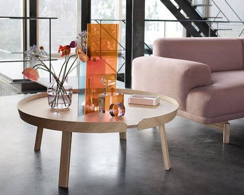 Our list of top 10 round coffee tables includes Muuto's Around tables.