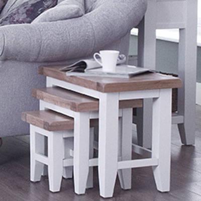 Lavenham White & Oak Painted Dining Range