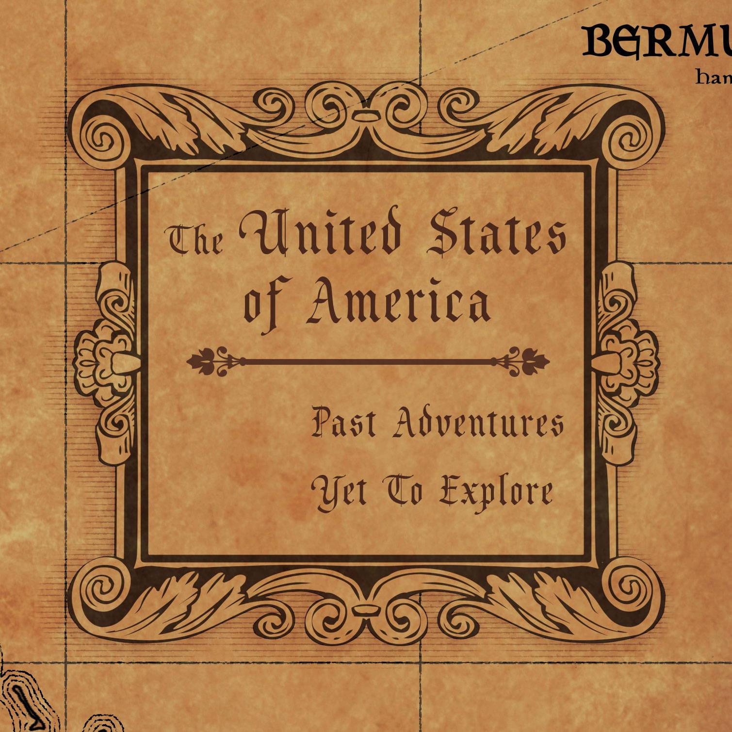 Conquest Maps Golden Aged USA Legend