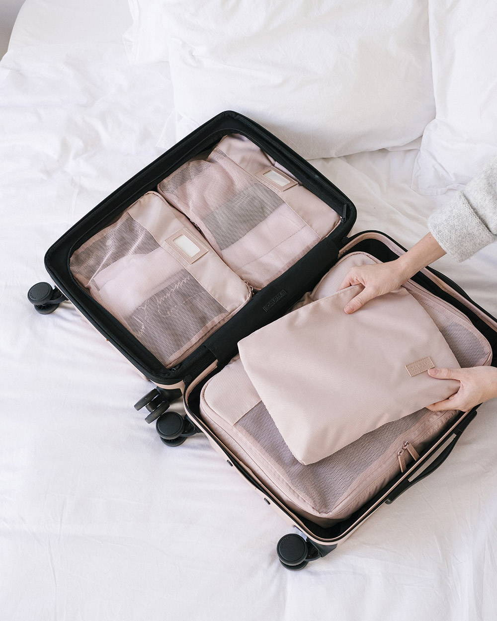 Pink Sand Packing Cubes, Pink Sand Hue Carry-on