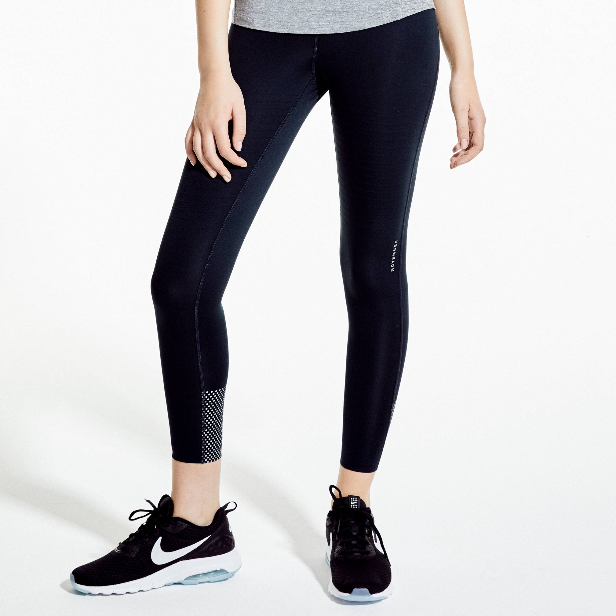 Womens-Reflective Silver-Performance-Tight