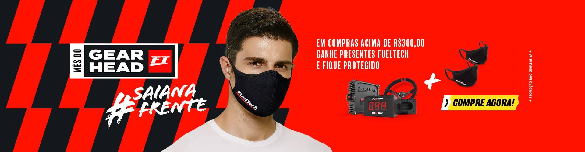 Ganhe um par de máscaras em compras acima de R$ 300,00 no mês do GearHead