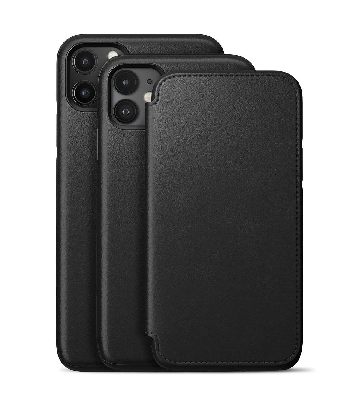 Rugged Leather Folio Case For Iphone 11 Black Nomad