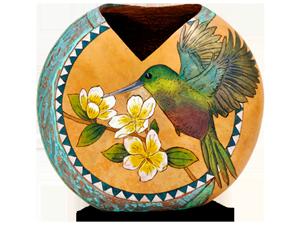 Hummingbird V-Cut Canteen Vase