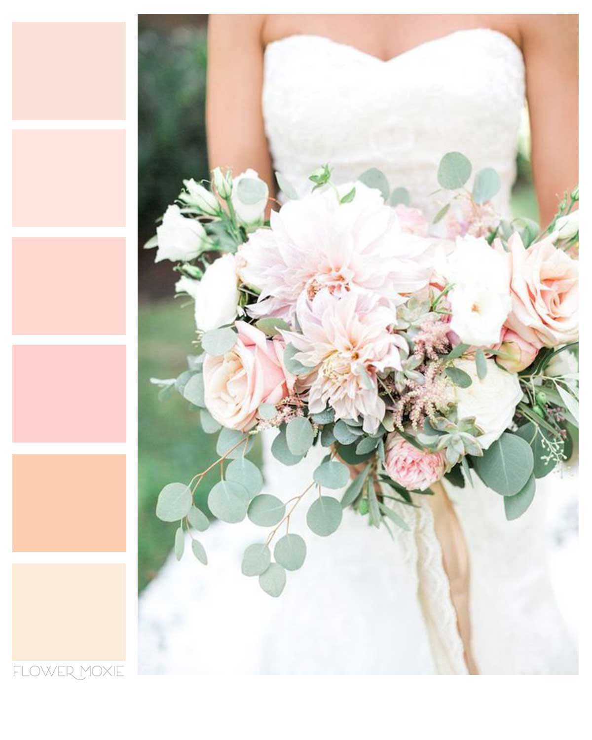 blush and cream diy wedding flower packages