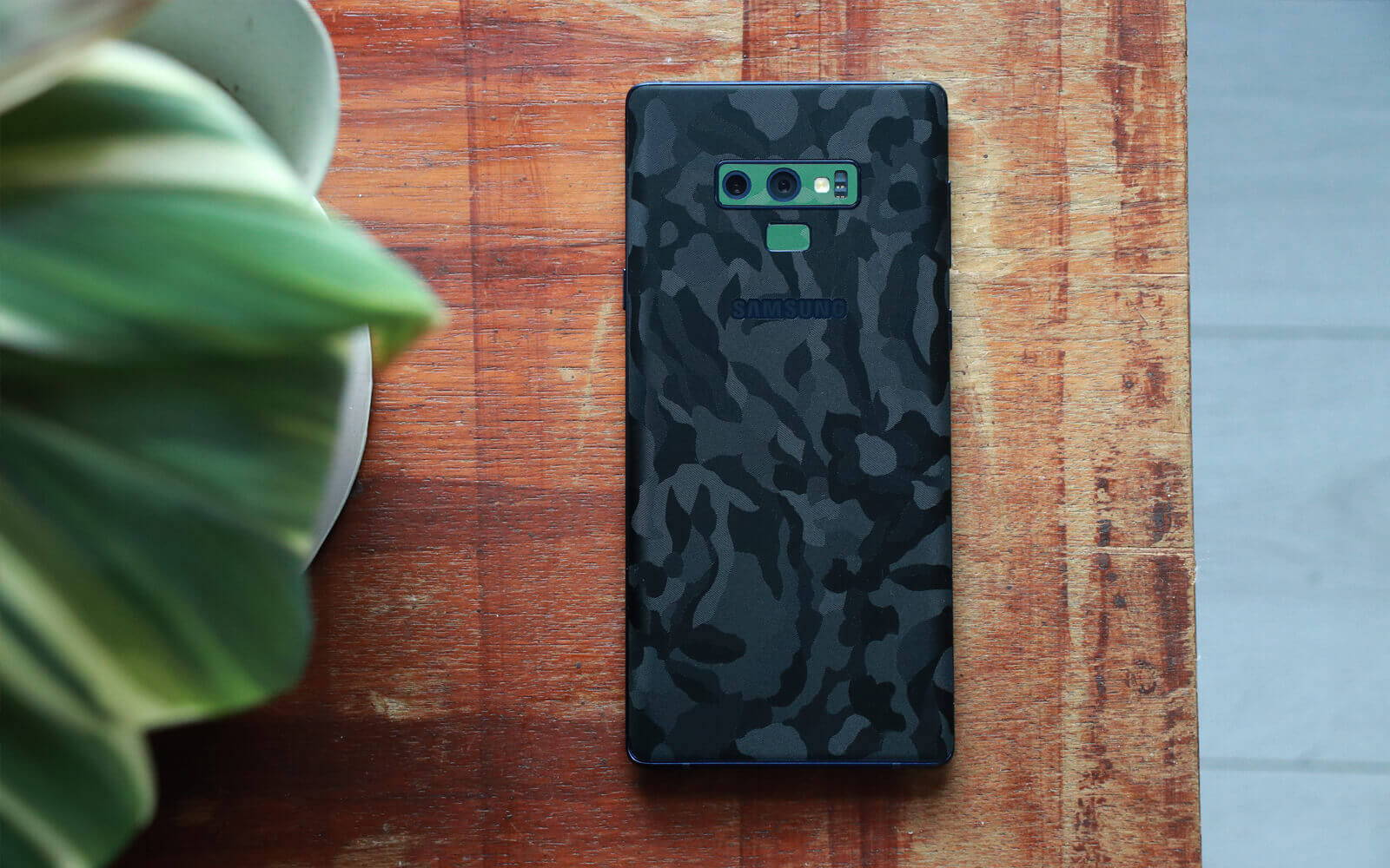 Samsung Galaxy Note 9 Black Camo and Green Camo Skins