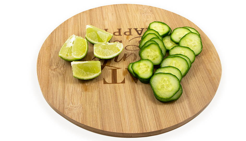 sliced cucumbers for spicy margarita