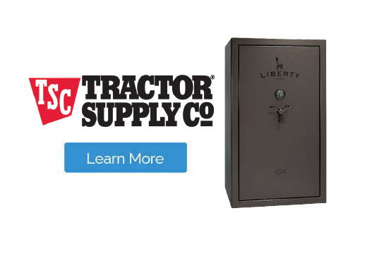 Liberty gun safes at Tractor Supply