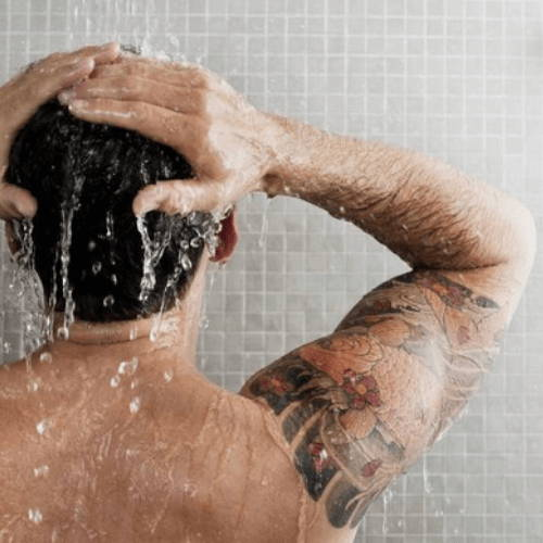 Get into a Hot Shower to Prep