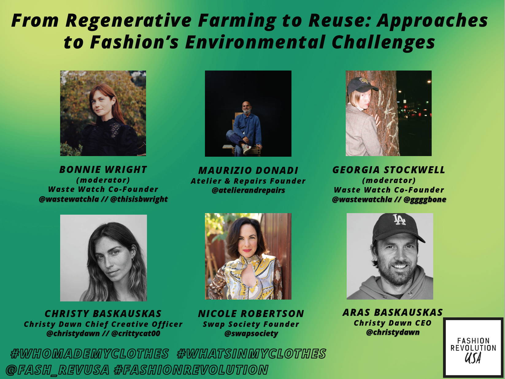 Fashion Revolution USA From Regenerative Farming to Reuse