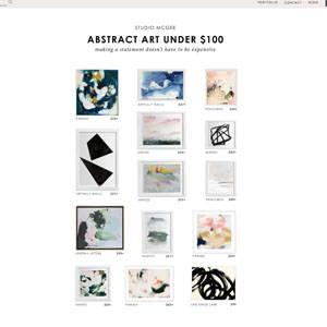 Studio McGee Best Abstract Art Parima Studio