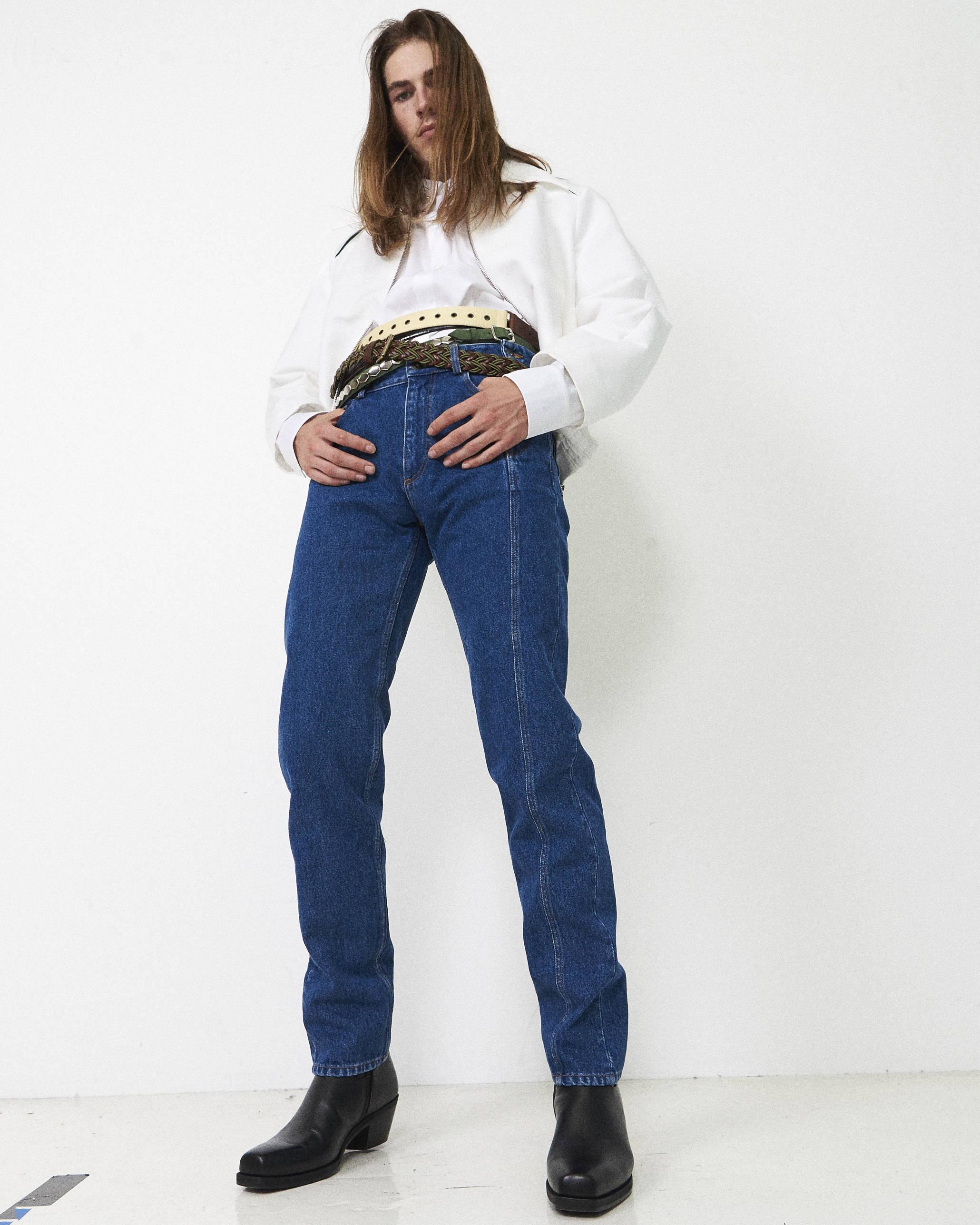 Y/Project Men Jeans SS18 Namacheko Cropped Jacket  - Hlorenzo