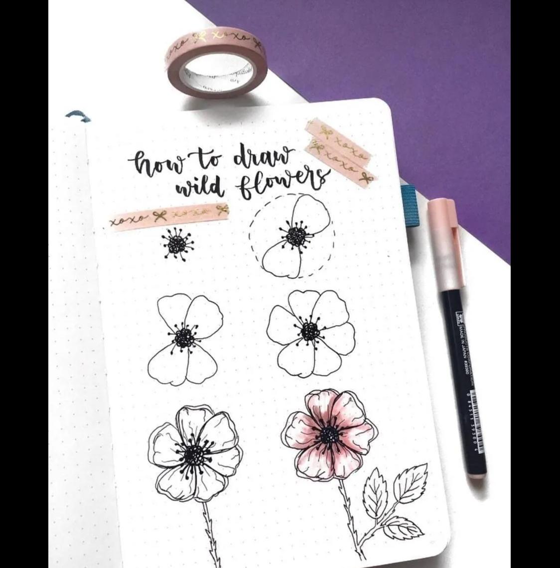 Hình tượng trưng hoa dại