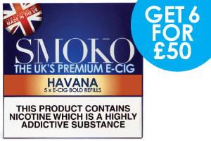 recharges de cigarettes électroniques à saveur de cigare havane réaliste