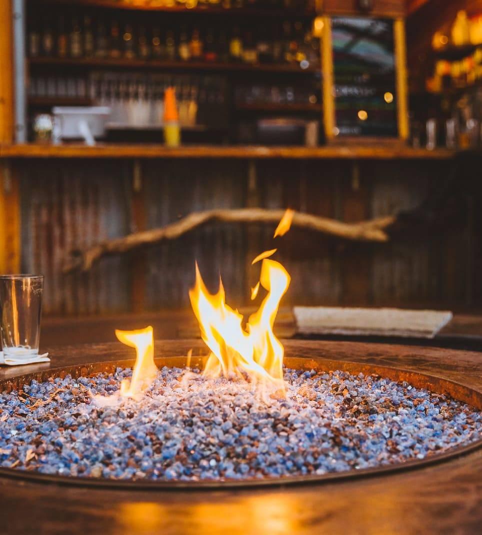 Teote backyard fire pit
