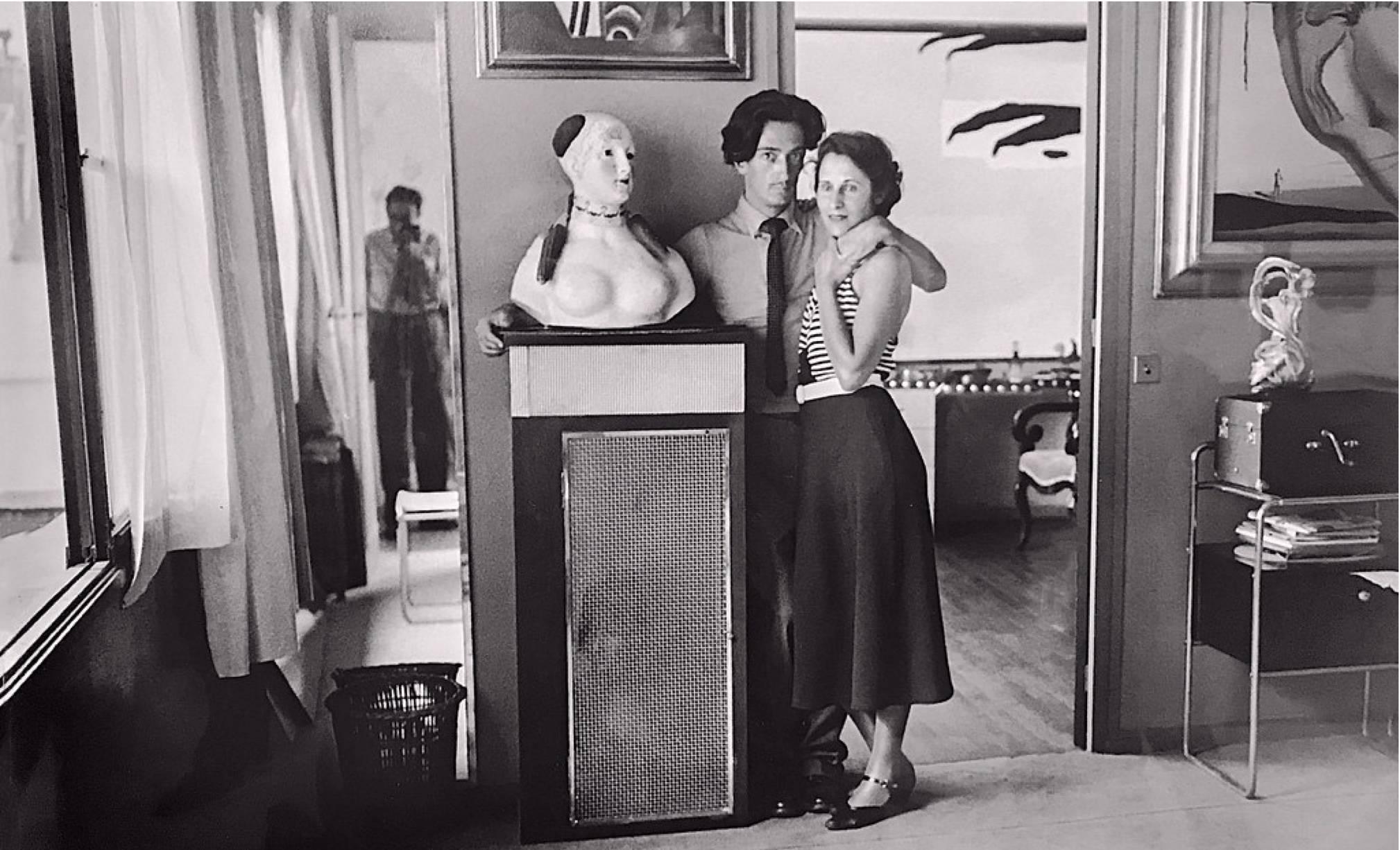 Salvador Dali at home.