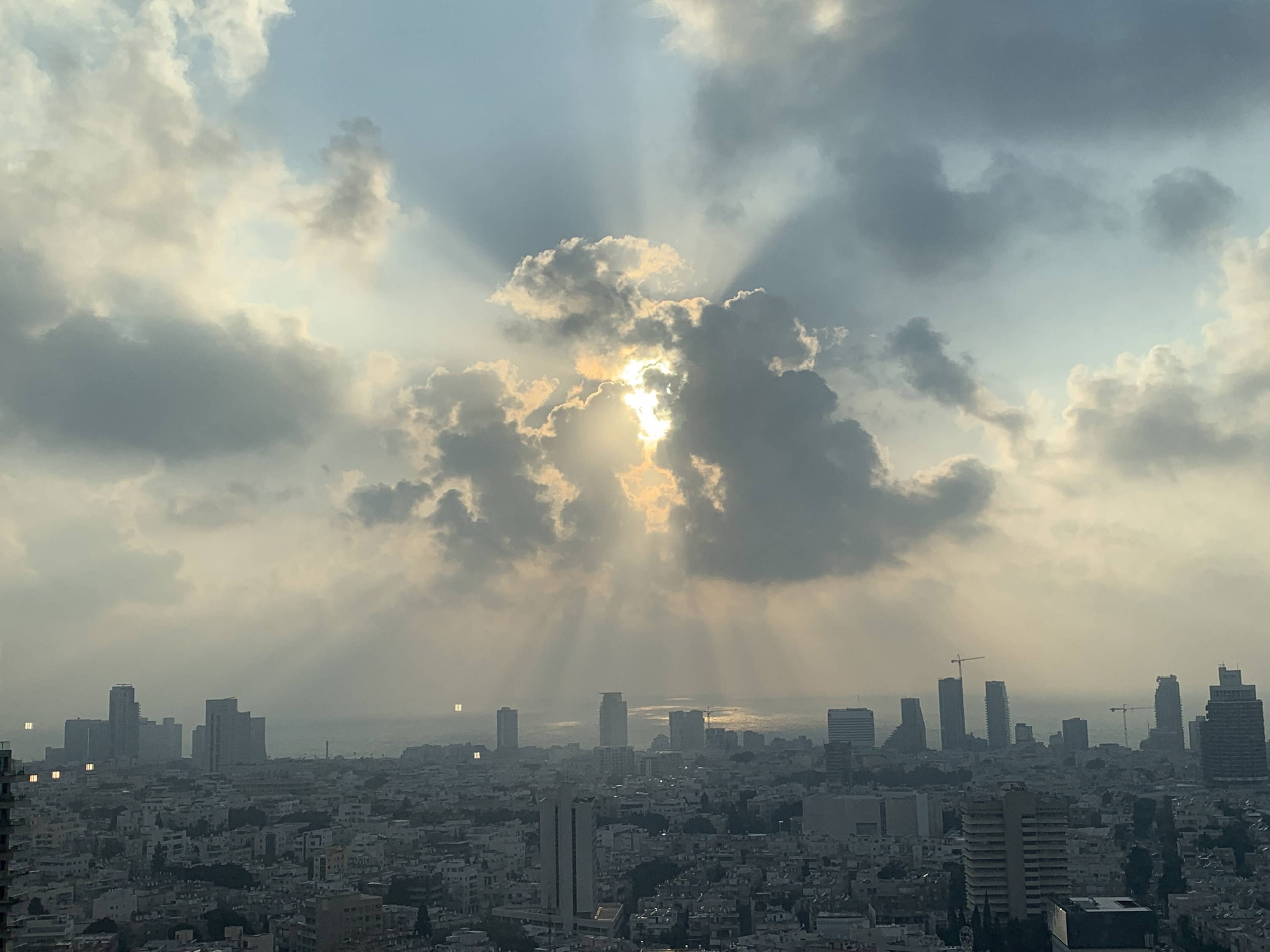 Tel Aviv office sunset