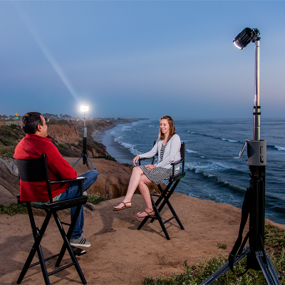 FoxFury NOMAD® P56 Portable Production Light Has Built-in Tripod Legs and Delivers Up to 4,100 Lumens