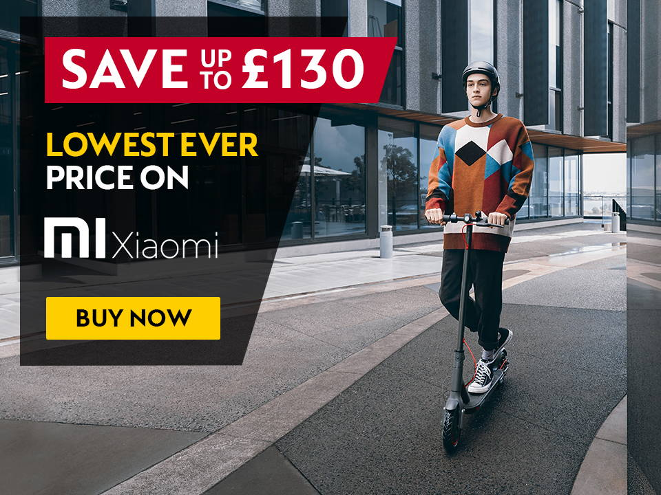 save up to £130 on xiaomi electric scooters