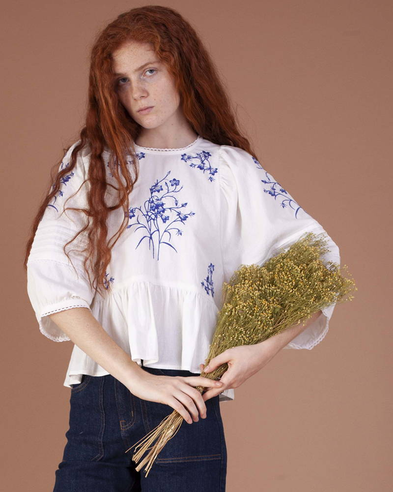Meadows Azelea Top in Bluebell from the SS20 collection