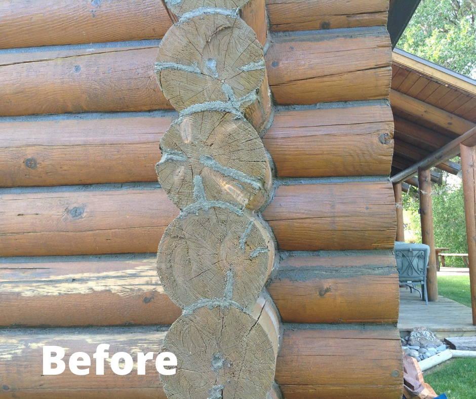 Before Log Home Maintenace