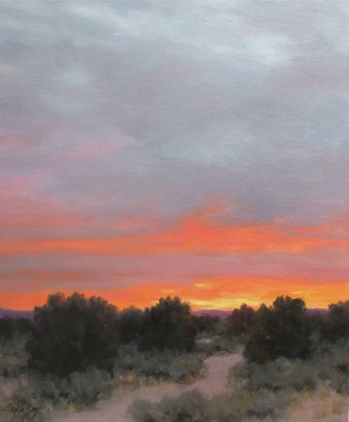Stephen Day. Fine Art. Landscape Art. Sunset painting. Southwestern Art. Sorrel Sky Gallery. Santa Fe Art Gallery