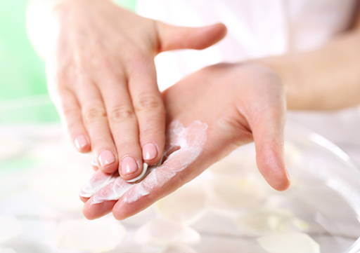 Nails Rub onto the cuticle and nail plate or soak them in a warm oil with addition of lemon juice.