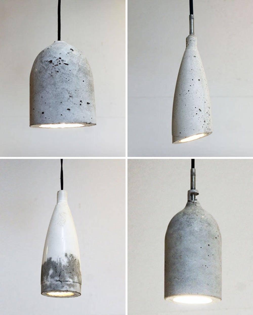 Repurpose Old Bottles Into Pendant Light Fixture Molds Tutorial On Homemade Modern