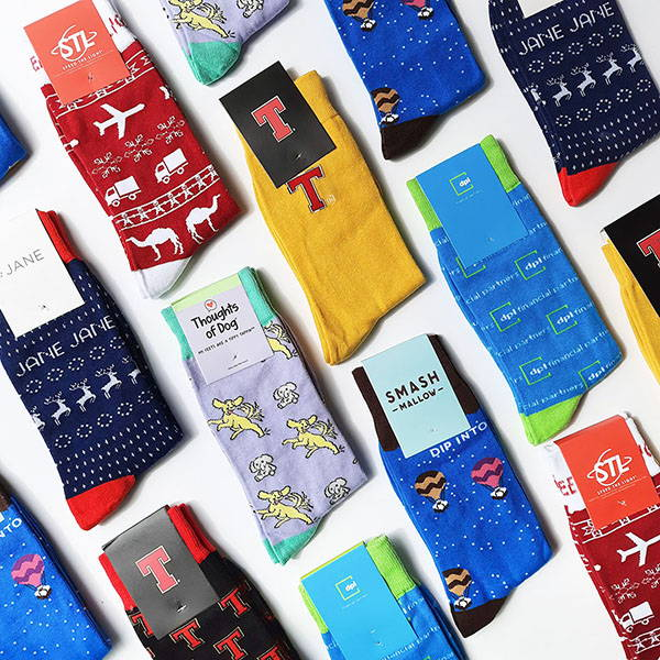 Image of some example custom socks