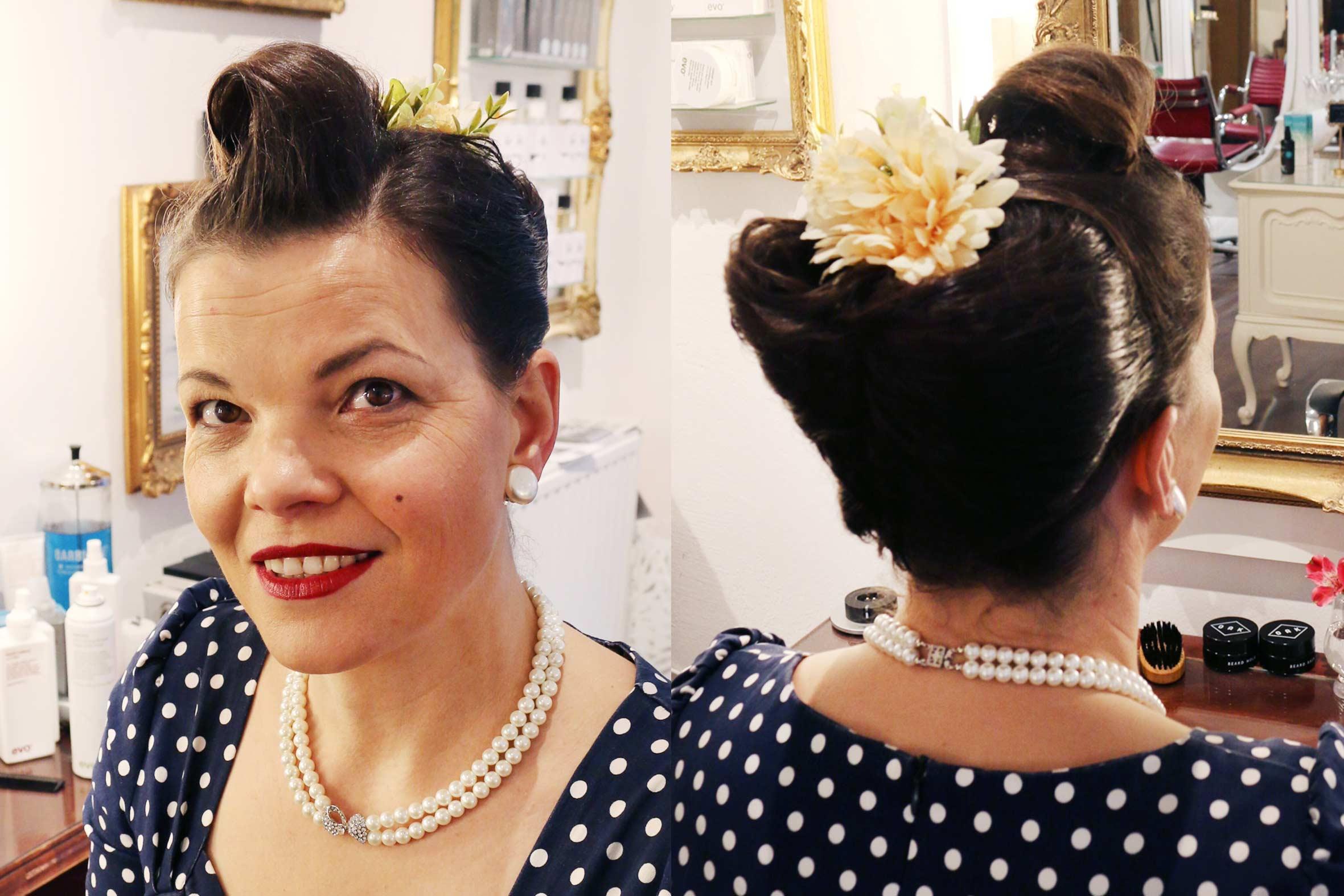 vintage hairstyling 50er jahre victory rolls püppikram
